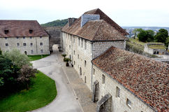 The citadel of Besancon in France stock image