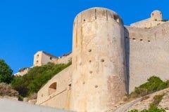 The citadel at Bonifacio, Corsica, France Stock Images