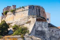 The citadel of Bonifacio, Corsica, France Stock Photography