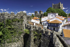 The citadel, Braganca, Portugal. Ancient town of Braganca, Tras-os-Montes Province, northern Portugal Stock Image