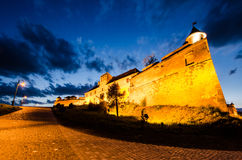 Citadel of Brasov in the night, landmark of Brasov Stock Photography