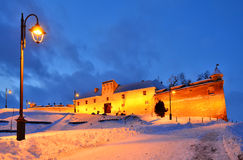 Citadel of Brasov in night, Romania landmark. The Citadel is part of Brasov\'s outer fortification system (Transylvania, Romania Royalty Free Stock Photos