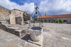 Citadel in Budva. Old Town citadel of Budva coastal town, Montenegro Stock Photos