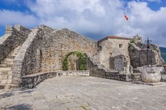Citadel in Budva. Old Town citadel of Budva coastal town, Montenegro Royalty Free Stock Photography