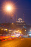 Citadel Cairo Egypt Night Trailing Lights Stock Image
