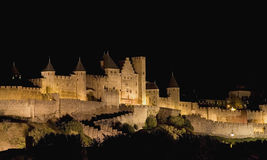 Citadel of Carcassonne stock photography
