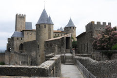 The citadel of Carcassonne Stock Photos