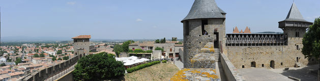 The citadel of Carcassonne Stock Images