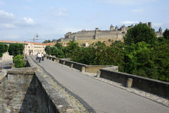 The citadel of Carcassonne Stock Image