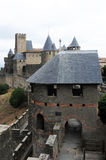 The citadel of Carcassonne Royalty Free Stock Photos