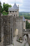 The citadel of Carcassonne Stock Photo