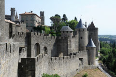 The citadel of Carcassonne Royalty Free Stock Photo