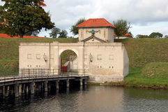Citadel   Castellet in Copenhagen, Denmark. Entrance to the citadel of Castellet. Copenhagen, Denmark Royalty Free Stock Images