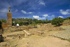 The Citadel of Chellah - the Roman ruins Royalty Free Stock Photography