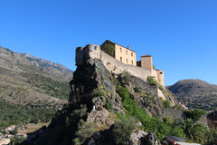 Citadel of Corte, Corse, France. stock photos