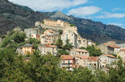 The citadel of Corte, Corsica Royalty Free Stock Image