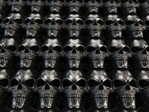 Citadel of heavy metal skulls. Citadel of dark heavy metal skulls Royalty Free Stock Photo