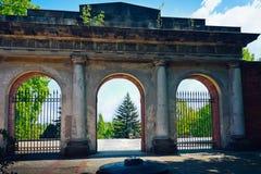 Citadel - de Poort van de Uitvoering in Warshau royalty-vrije stock afbeeldingen