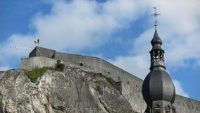 The citadel in Dinant, Belgium stock images