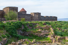 Citadel on the Dniester estuary Royalty Free Stock Photography