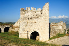 The citadel and fortress of Kala at Berat Royalty Free Stock Photography