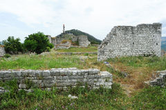The citadel and fortress of Kala at Berat Stock Photos