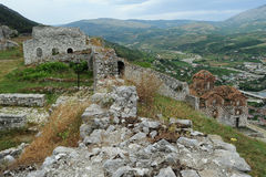 The citadel and fortress of Kala at Berat Royalty Free Stock Photos