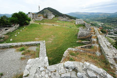 The citadel and fortress of Kala at Berat Stock Images