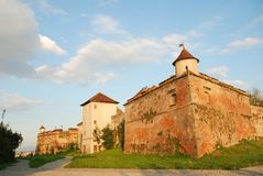 Citadel of The Guard, Brasov. Citadel of The Guard in Brasov, Romania, in the evening stock images