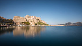 Citadel and harbour entrance at Calvi in Corsica Royalty Free Stock Images