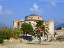Fortified town Citadel. The historic citadel at Saint-Florent on Corsica, France royalty free stock photography