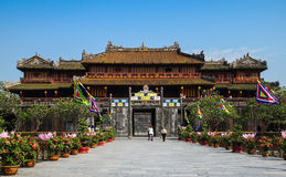 Citadel Hue Vietnam. An interior view of the Citadel in the historic Imperial City, Hue, Vietnam stock images
