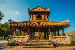 Citadel at Hue in Vietnam. The temple in the Imperial Palace citadel at Hue in Vietnam. Hue, a UNESCO World Heritage site Royalty Free Stock Photos