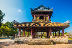 Citadel at Hue in Vietnam. The temple in the Imperial Palace citadel at Hue in Vietnam. Hue, a UNESCO World Heritage site Royalty Free Stock Images