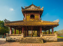 Citadel at Hue in Vietnam. The temple in the Imperial Palace citadel at Hue in Vietnam. Hue, a UNESCO World Heritage site Royalty Free Stock Image