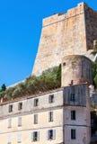 Citadel and living houses of Bonifacio, Corsica Stock Image