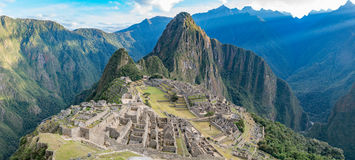 Citadel of Machu Picchu. The ancient Incan citadel of machu picchu is one of the most famous treks in the world royalty free stock image