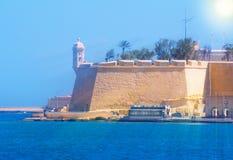 Citadel Malta. Historical architecture of fortress in Valletta, near the harbor in Malta Stock Photo