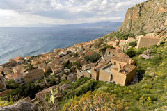 Citadel of Monemvasia in Greece Royalty Free Stock Photography