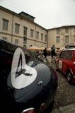 Citadel paddock of Bergamo Historic Grand Prix 2015 Royalty Free Stock Images