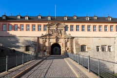 The Citadel Petersberg of Erfurt, Germany Stock Images