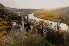 Citadel Pocitelj, castle in Bosnia and Herzegovina In the valley of the river Neretva. This fortress was built by King Tvrtko I of stock photos