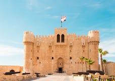Citadel of Qaitbay. Alexandria, Egypt stock photography
