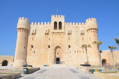 The Citadel of Qaitbay. (or the Fort of Qaitbay) (Arabic: قلعة قايتباي) is a 15th-century defensive fortress located stock image