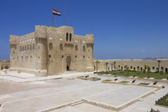 Citadel of Qaitbay and its entrance yard Royalty Free Stock Images