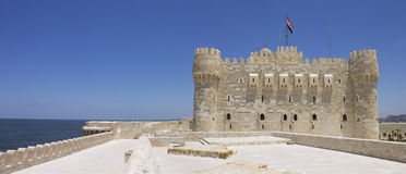 Citadel of Qaitbay and sea Stock Photo