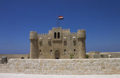 Citadel of Qaitbay and a wall Royalty Free Stock Photography