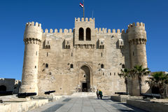The Citadel of Qaitbey situated on the eastern harbour at Alexandria in Egypt. Royalty Free Stock Photo