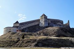 Citadel of Rasnov stock photo