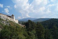 Citadel of Rasnov, Romania stock image